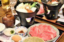 Omi beef sukiyaki dinner