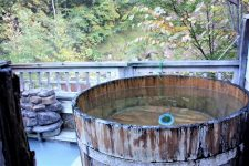 Outdoor onsen in Okukinu
