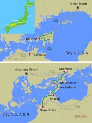 setouchi cycling tour map